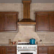 Wooden Wall Mount Range Hood in Rustic Light Finish - Includes Motor (KPLL-30)  ZLINE 30 in. - America Best Appliances, LLC
