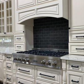 Porcelain Rangetop with 7 Gas Burners (RT48)  ZLINE 48 in. - America Best Appliances, LLC