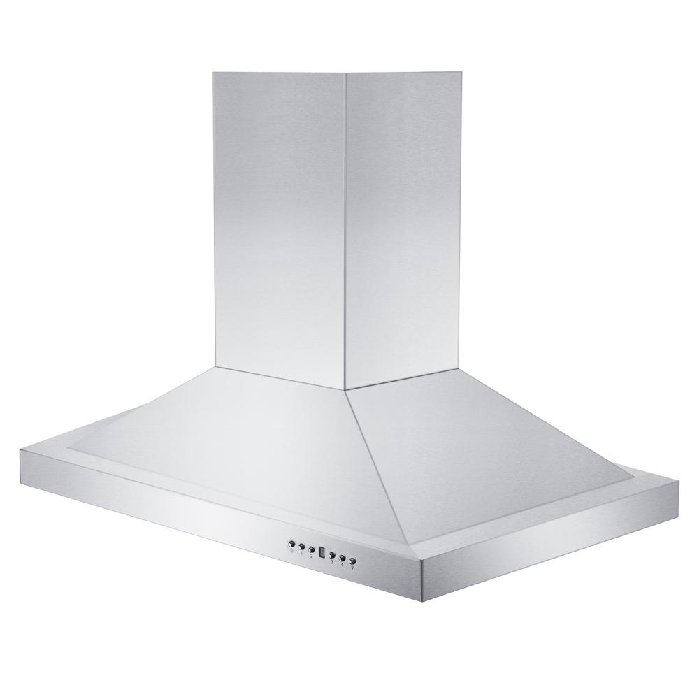 Remote Blower Island Mount Range Hood in Stainless Steel (GL2i-RS-36-400)  ZLINE 36 in. - America Best Appliances, LLC