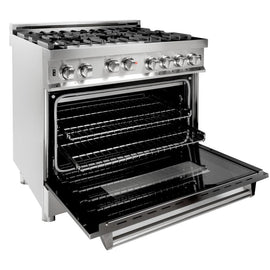 Professional 4.6 cu. ft. 6 Gas on Gas Range in Stainless Steel (RG36) ZLINE 36 in. - America Best Appliances, LLC