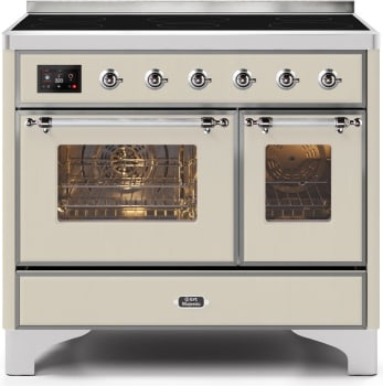 "Majestic II Series Induction Range with 6 Elements   Dual Ovens  TFT Control Display   Triple Glass Cool Oven Door   Bronze Trim  in Custom RAL Color""UMDI10NS3AWC 40 - America Best Appliances, LLC"