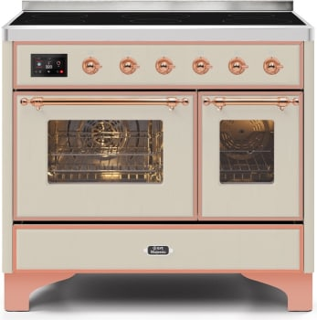 "Majestic II Series Induction Range with 6 Elements  Dual Ovens  TFT Control Display   Triple Glass Cool Oven Door   Bronze Trim  in Custom RAL Color""UMDI10NS3AWP 40 - America Best Appliances, LLC"