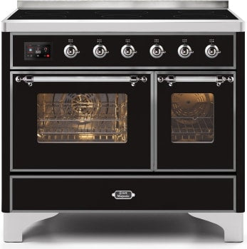 "Majestic II Series Induction Range with 6 Elements  Dual Ovens  TFT Control Display  Triple Glass Cool Oven Door Bronze Trim  in Custom RAL Color""UMDI10NS3BKC 40 - America Best Appliances, LLC"