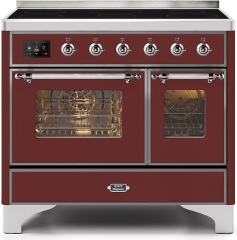 "Majestic II Series Induction Range with 6 Elements  Dual Ovens TFT Control Display   Triple Glass Cool Oven Door   Bronze Trim  in Custom RAL Color""UMDI10NS3BUC 40 - America Best Appliances, LLC"
