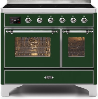 "Majestic II Series Induction Range with 6 Elements   Dual Ovens   TFT Control Display  Triple Glass Cool Oven Door  Bronze Trim  in Custom RAL Color""UMDI10NS3EGC 40 - America Best Appliances, LLC"