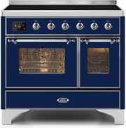 "Majestic II Series Induction Range with 6 Elements   Dual Ovens   TFT Control Display   Triple Glass Cool Oven Door  Bronze Trim   in Custom RAL Color""UMDI10NS3MBC 40 - America Best Appliances, LLC"