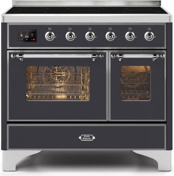 "Majestic II Series Induction Range with 6 Elements   Dual Ovens  TFT Control Display   Triple Glass Cool Oven Door   Bronze Trim   in Custom RAL Color""UMDI10NS3MGC 40 - America Best Appliances, LLC"