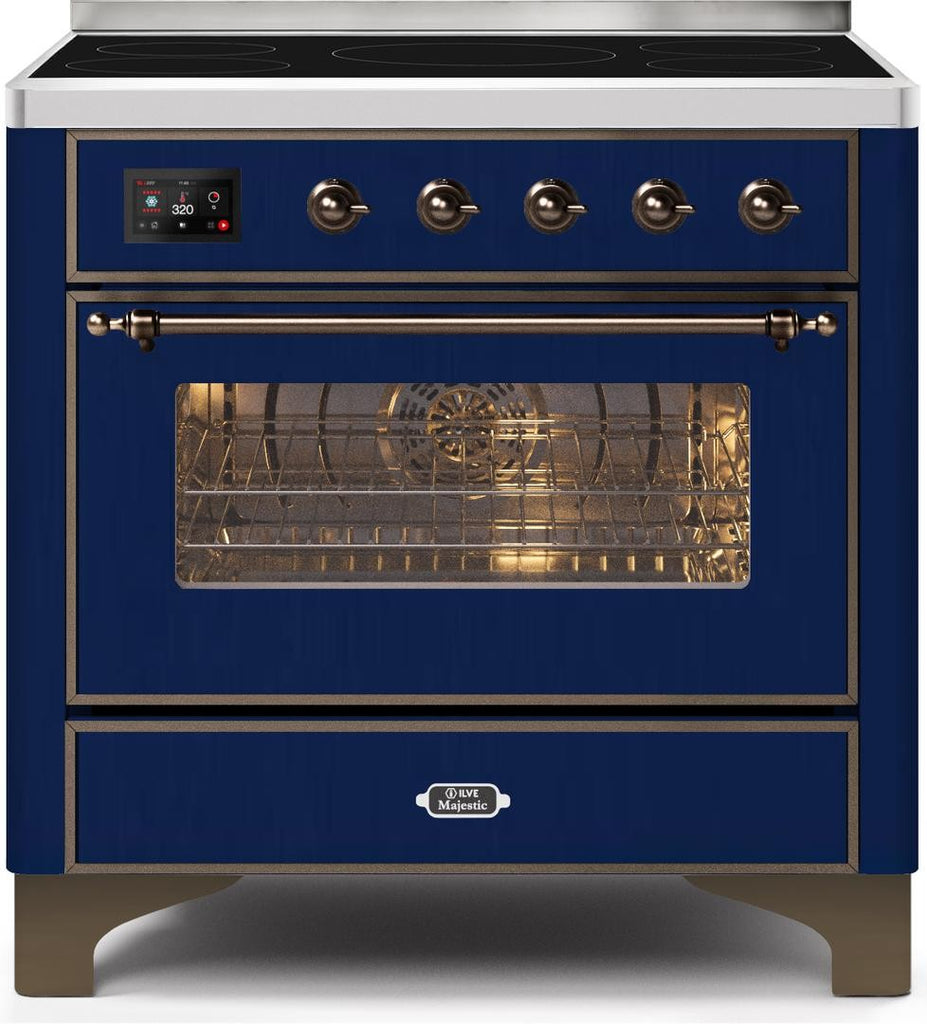 "Majestic II Series Induction Range with 6 Elements   Dual Ovens   TFT Control Display   Triple Glass Cool Oven Door   Bronze Trim   in Custom RAL Color""UM109NS3MBB 36 - America Best Appliances, LLC"