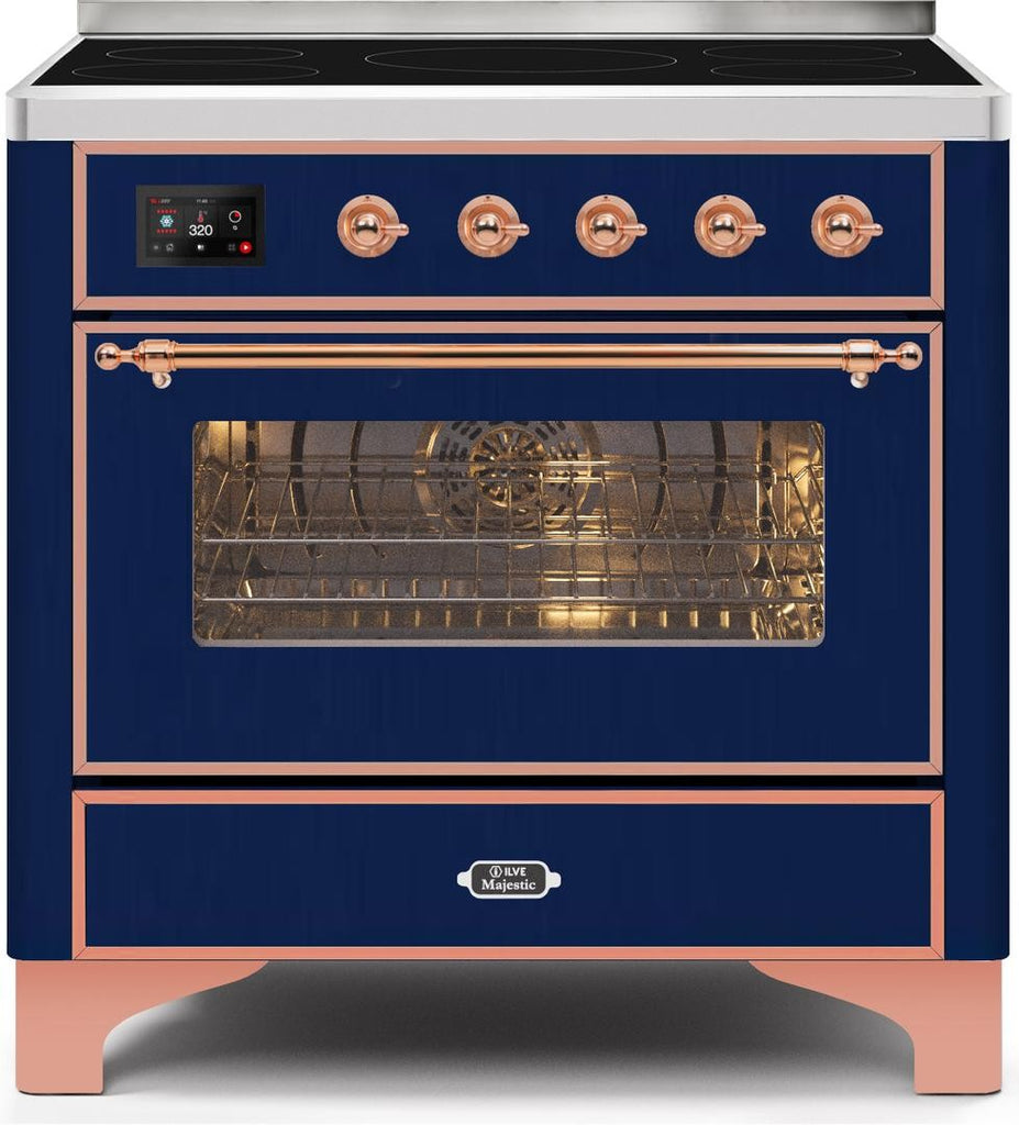 "Majestic II Series Induction Range with 6 Elements   Dual Ovens   TFT Control Display   Triple Glass Cool Oven Door   Bronze Trim   in Custom RAL Color""UM109NS3MBP 36 - America Best Appliances, LLC"