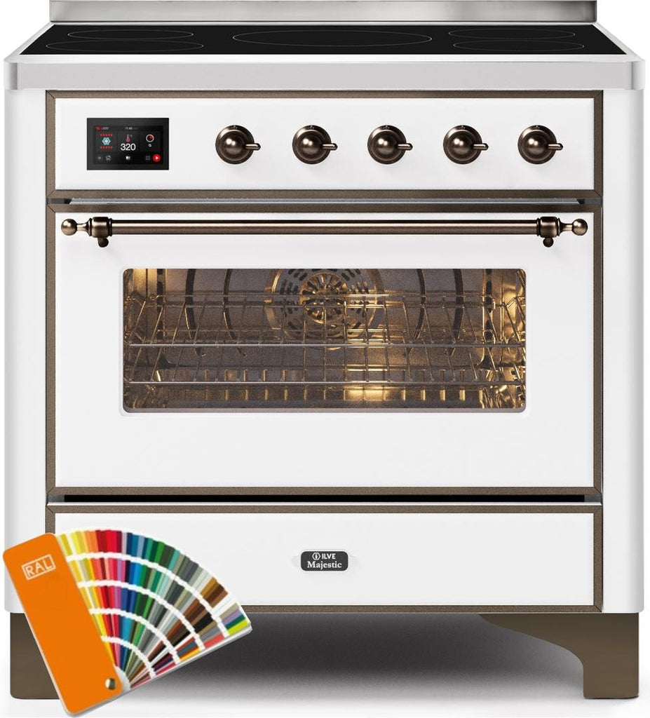 "Majestic II Series Induction Range with 5 Elements   Bronze Trim  Custom RAL Color""UMI09NS3RALB 36 - America Best Appliances, LLC"