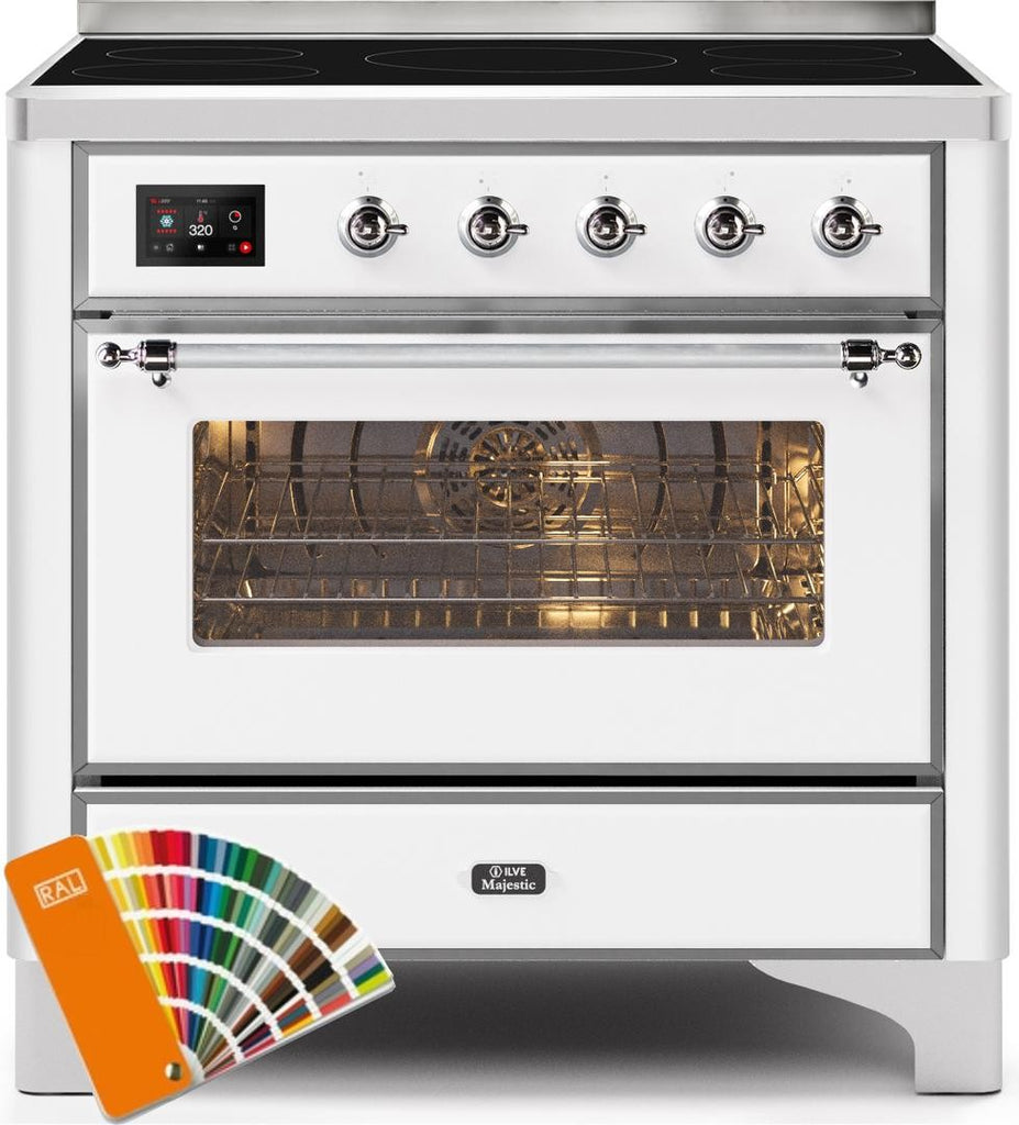 "Majestic II Series Induction Range with 5 Elements   Chrome Trim   in Custom RAL Color""UMI09NS3RALC 36 - America Best Appliances, LLC"