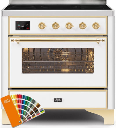 "Majestic II Series Induction Range with 5 Elements   Brass Trim   in Custom RAL Color""UMI09NS3RALG 36 - America Best Appliances, LLC"