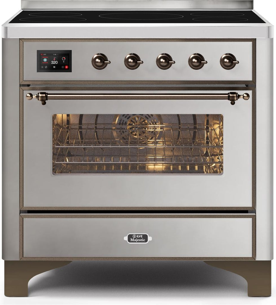 "Majestic II Series Induction Range with 5 Elements  Bronze Trim  in Stainless Steel""UMI09NS3SSB 36 - America Best Appliances, LLC"
