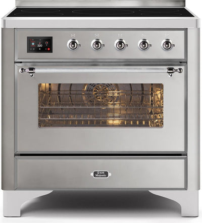 "Majestic II Series Induction Range with 5 Elements   Chrome Trim   in Stainless Steel""UMI09NS3SSC 36 - America Best Appliances, LLC"