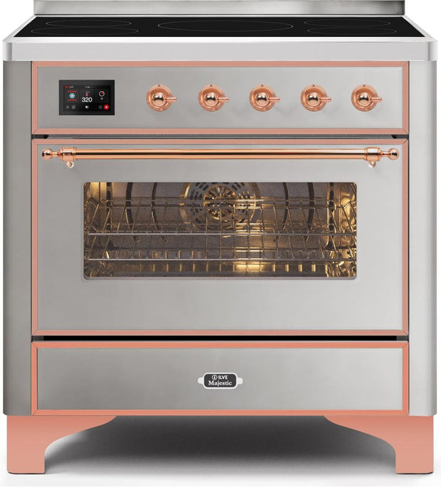 "Majestic II Series Induction Range with 5 Elements   Copper Trim   in Stainless Steel""UMI09NS3SSP 36 - America Best Appliances, LLC"