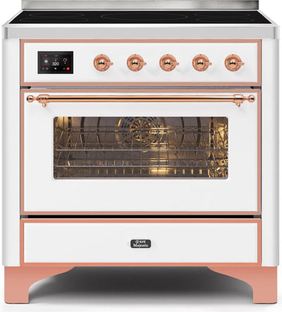 "Majestic II Series Induction Range with 5 Elements   Copper Trim   in White""UMI09NS3WHP 36 - America Best Appliances, LLC"