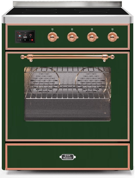 "Majestic II Series Induction Range   Copper Trim  in Emerald Green""UMI30NE3EGP 30 - America Best Appliances, LLC"