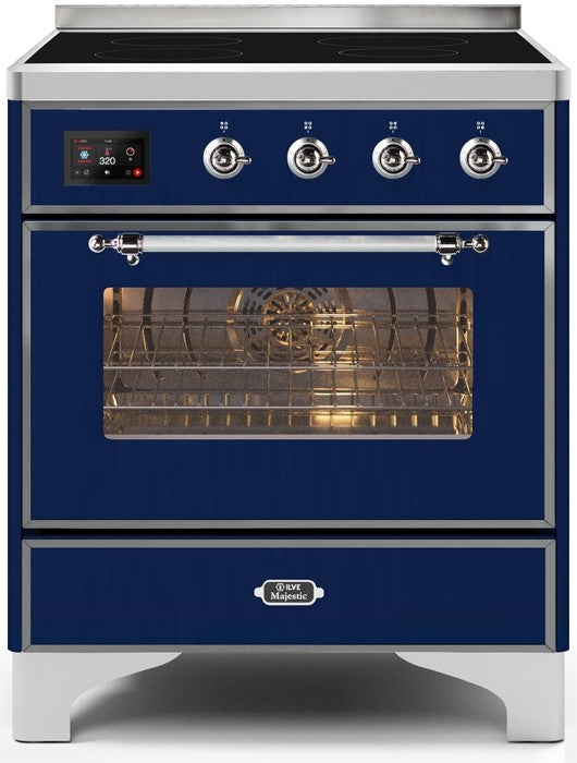 "Majestic II Series Induction Range   Chrome Trim   in Midnight Blue""UMI30NE3MBC 30 - America Best Appliances, LLC"