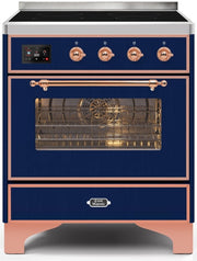 "Majestic II Series Induction Range  Copper Trim   in Midnight Blue""UMI30NE3MBP 30 - America Best Appliances, LLC"