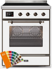 "Majestic II Series Induction Range with 4 Elements   Bronze Trim  in Custom RAL Color""UMI30NE3RALB 30 - America Best Appliances, LLC"