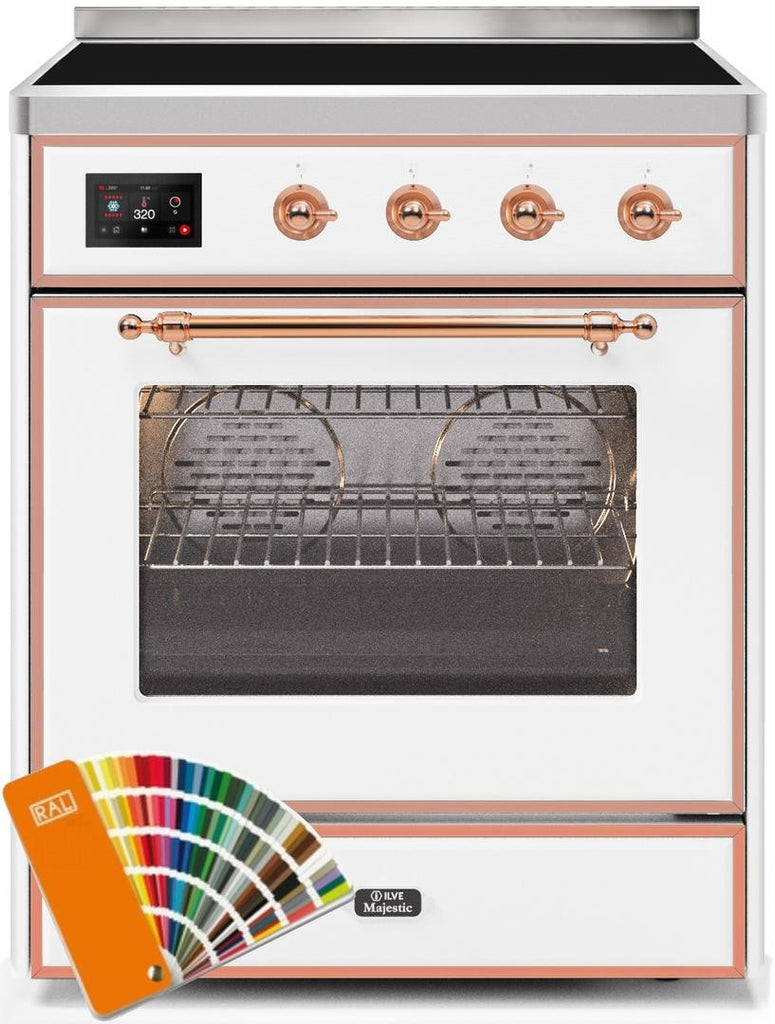 "Majestic II Series Induction Range with 4 Elements   Copper Trim   in Custom RAL Color""UMI30NE3RALP 30 - America Best Appliances, LLC"