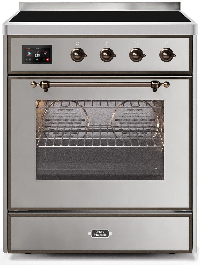 "Majestic II Series Induction Range  Bronze Trim   in Stainless Steel""UMI30NE3SSB 30 - America Best Appliances, LLC"