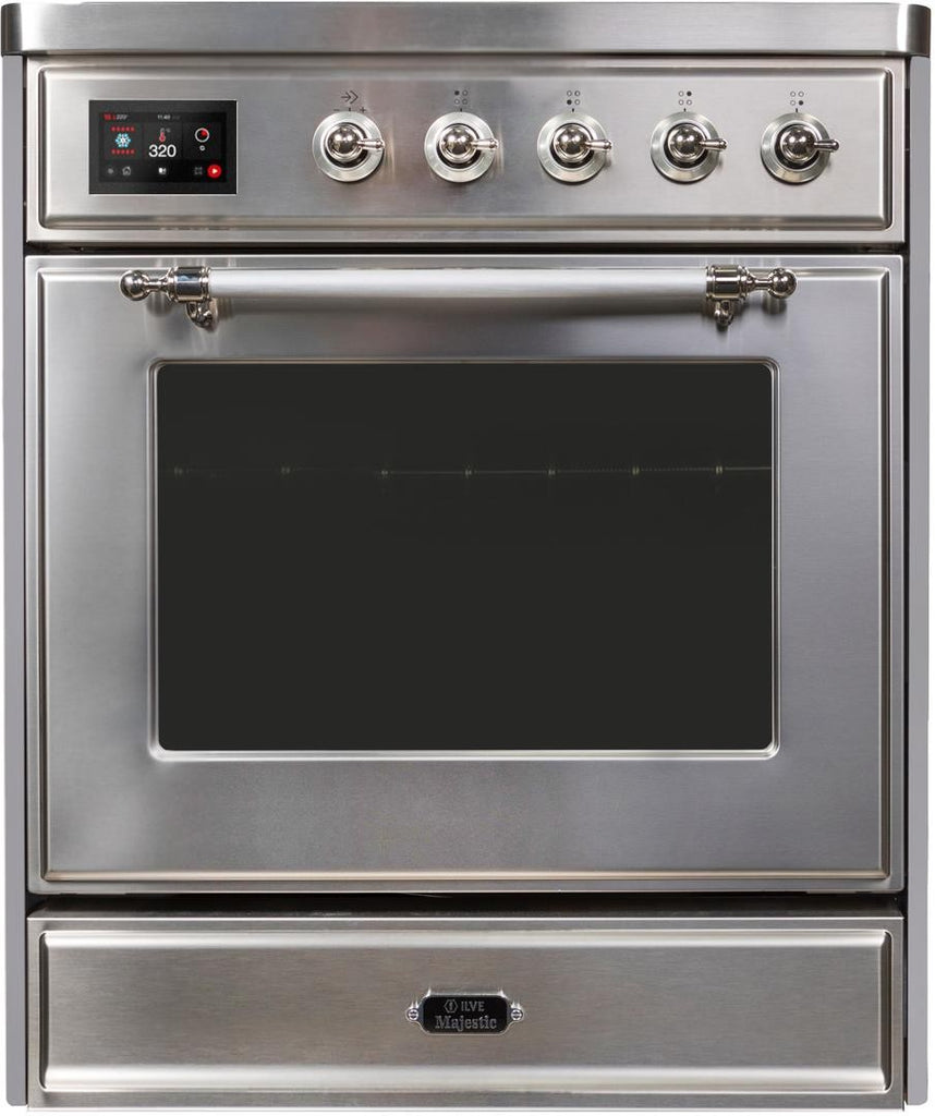 "Majestic II Series Induction Range   Chrome Trim   in Stainless Steel""UMI30NE3SSC 30 - America Best Appliances, LLC"