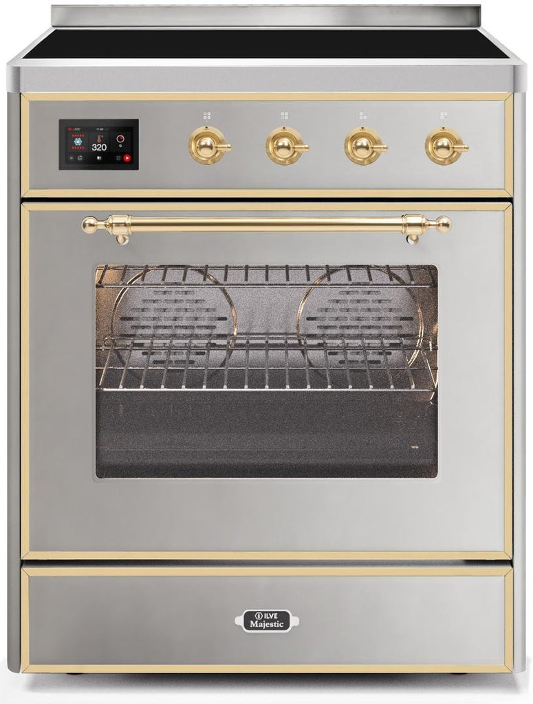 "Majestic II Series Induction Range   Brass Trim   in Stainless Steel""UMI30NE3SSG 30 - America Best Appliances, LLC"