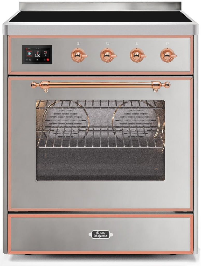 "Majestic II Series Induction Range  Copper Trim  in Stainless Steel""UMI30NE3SSP 30 - America Best Appliances, LLC"