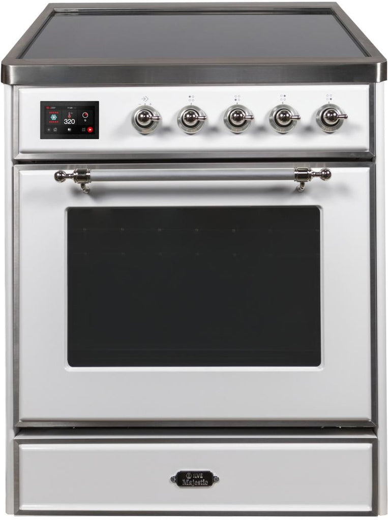 "Majestic II Series Induction Range  Chrome Trim  in White""UMI30NE3WHC 30 - America Best Appliances, LLC"