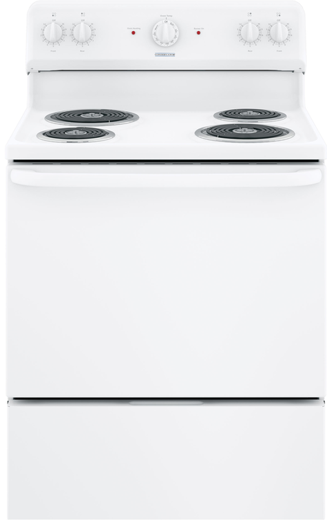 Crosley 5.0 Cu.Ft. 30'' Electric white Range VBS160DMWW Manual Clean - America Best Appliances, LLC