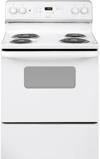 Crosley 5.0 Cu.Ft. 30'' Electric white Range XBS360DMWW Manual Clean - America Best Appliances, LLC
