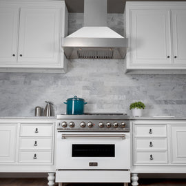 Snow Finish Range Hood with White Matte Shell (8654WM-36)  36""