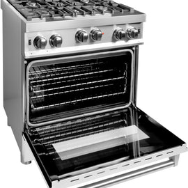 Professional Gas on Gas Range in Stainless Steel with White Matte Door (RG-WM-30) ZLINE 30 in. - America Best Appliances, LLC