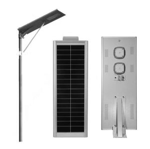 All in one solar LED street light with bluetooth cellphone App Smart remote control