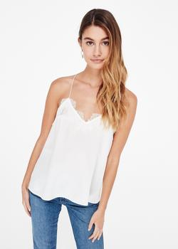 Copy of Cami NYC The Racer Silk Charmeuse White