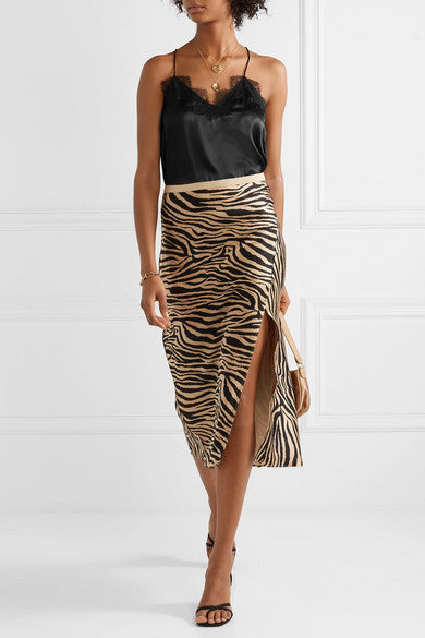 Cami NYC The Racer Silk Charmeuse Black