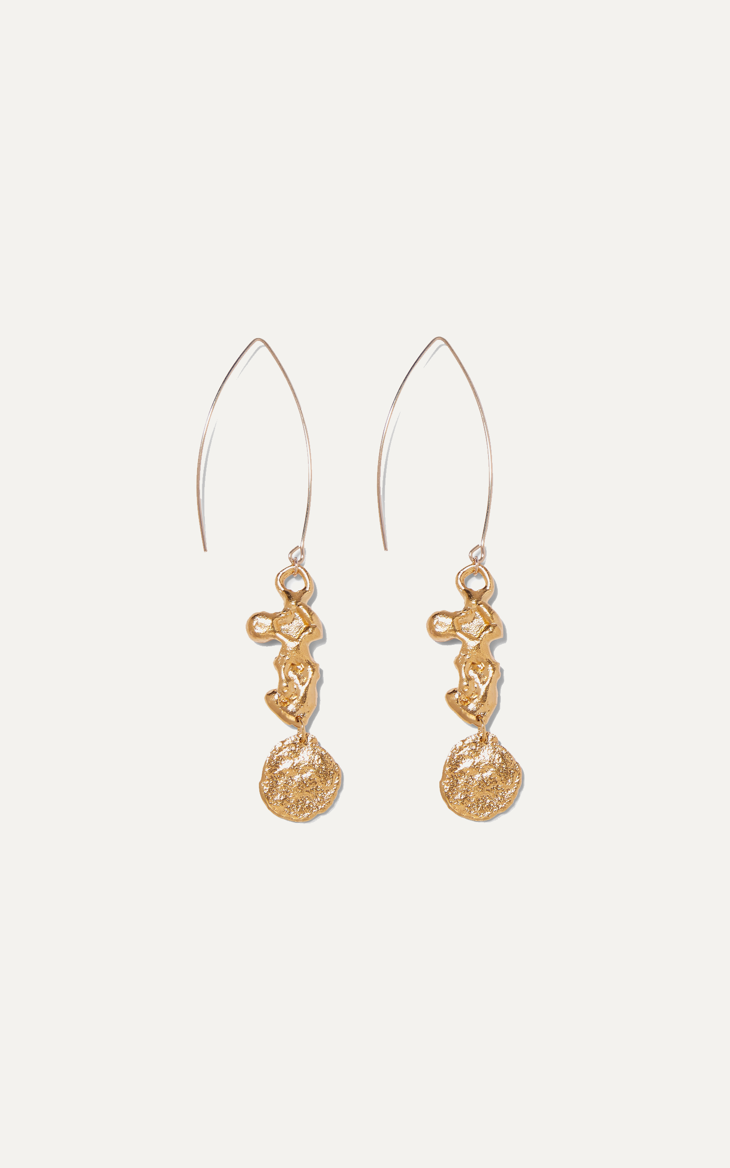 The Painter's Imagination gold-plated earrings