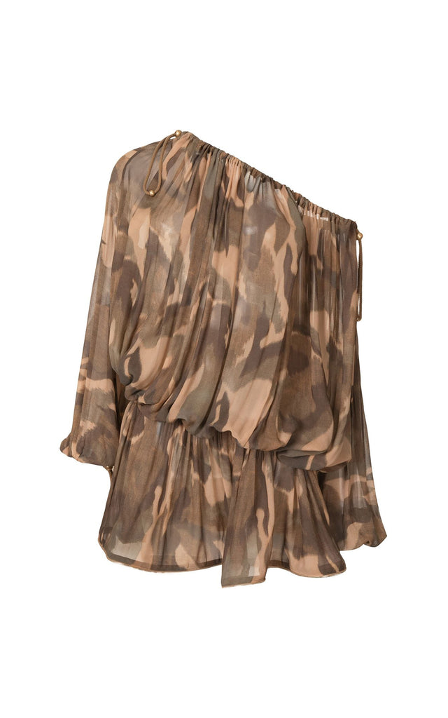 Camo GGT Balloon Dress Dark Camo