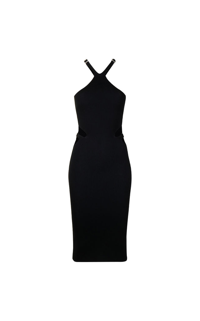 Lustrate Fork Dress Black