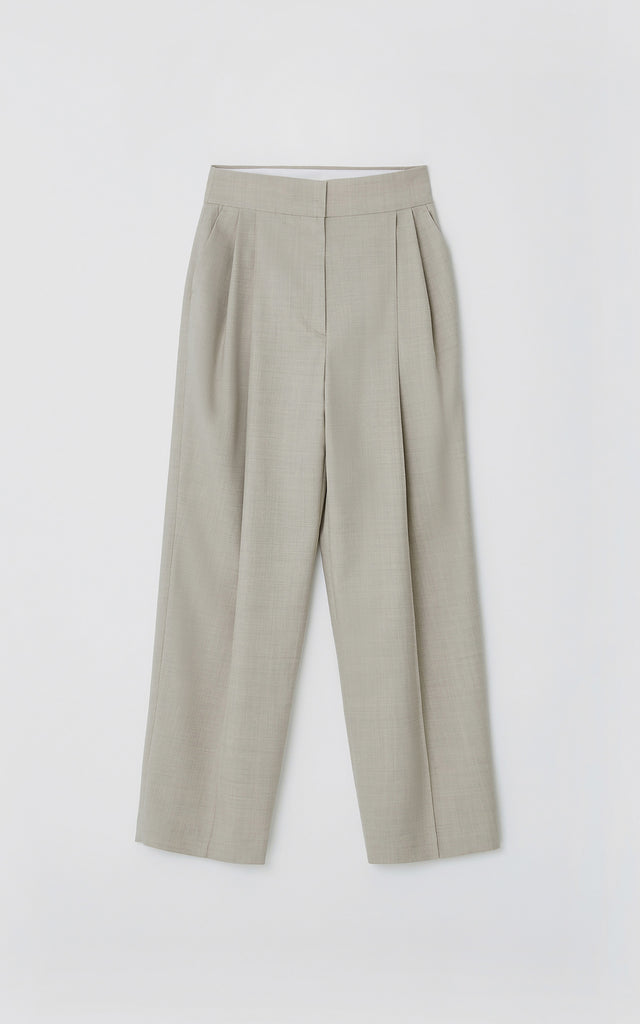 Pintuck Pants Beige