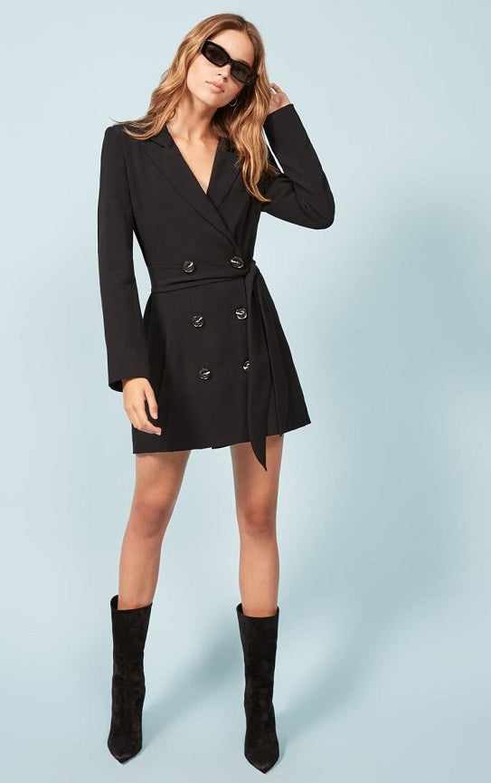 Reformation Cole Dress Black