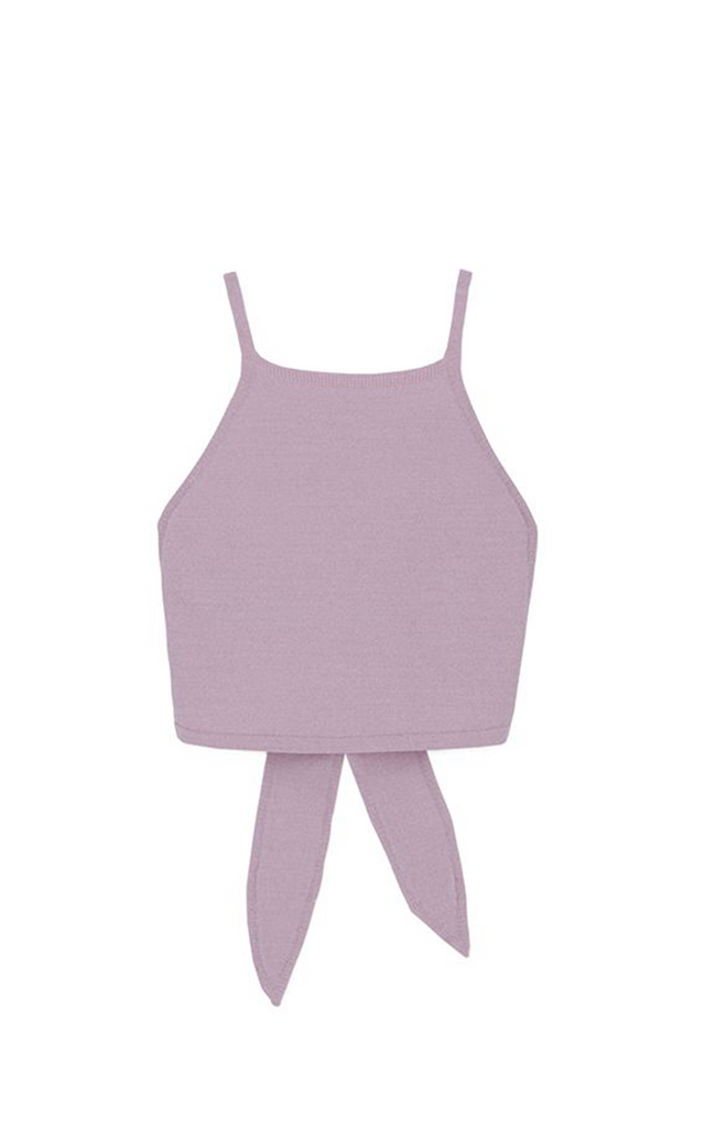 Abha terry knit lilac top