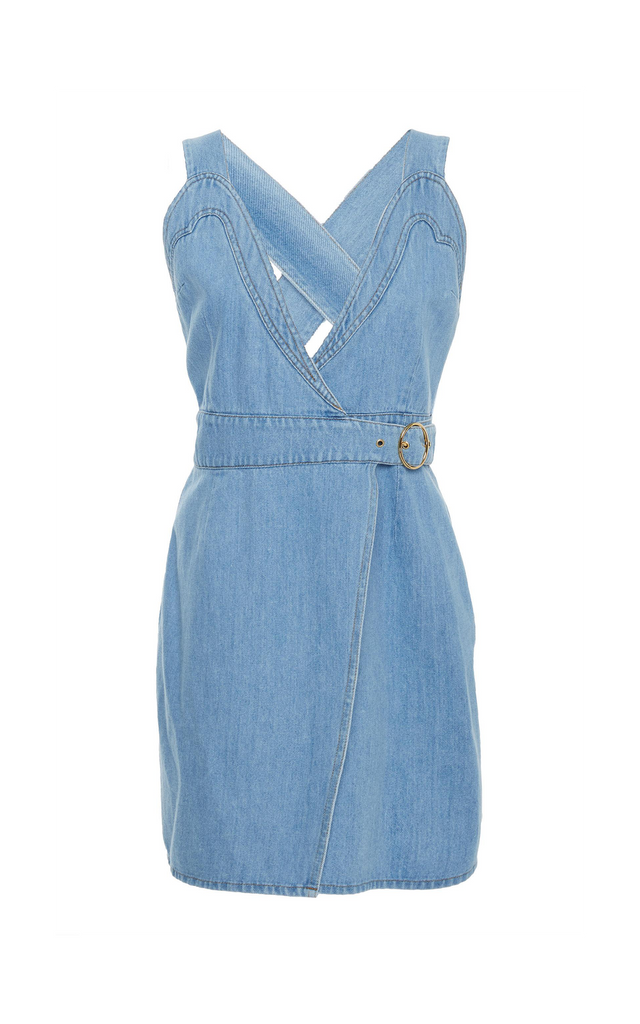 Giza 80'S denim wrap dress