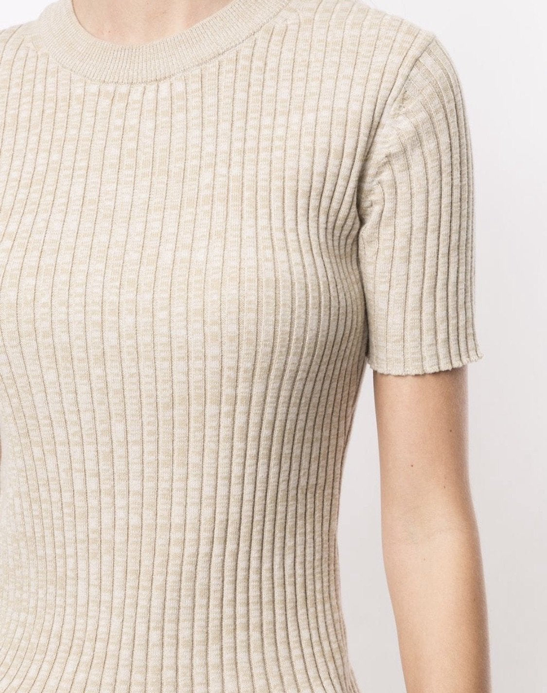 Bebe Short-Sleeved Knitted Top