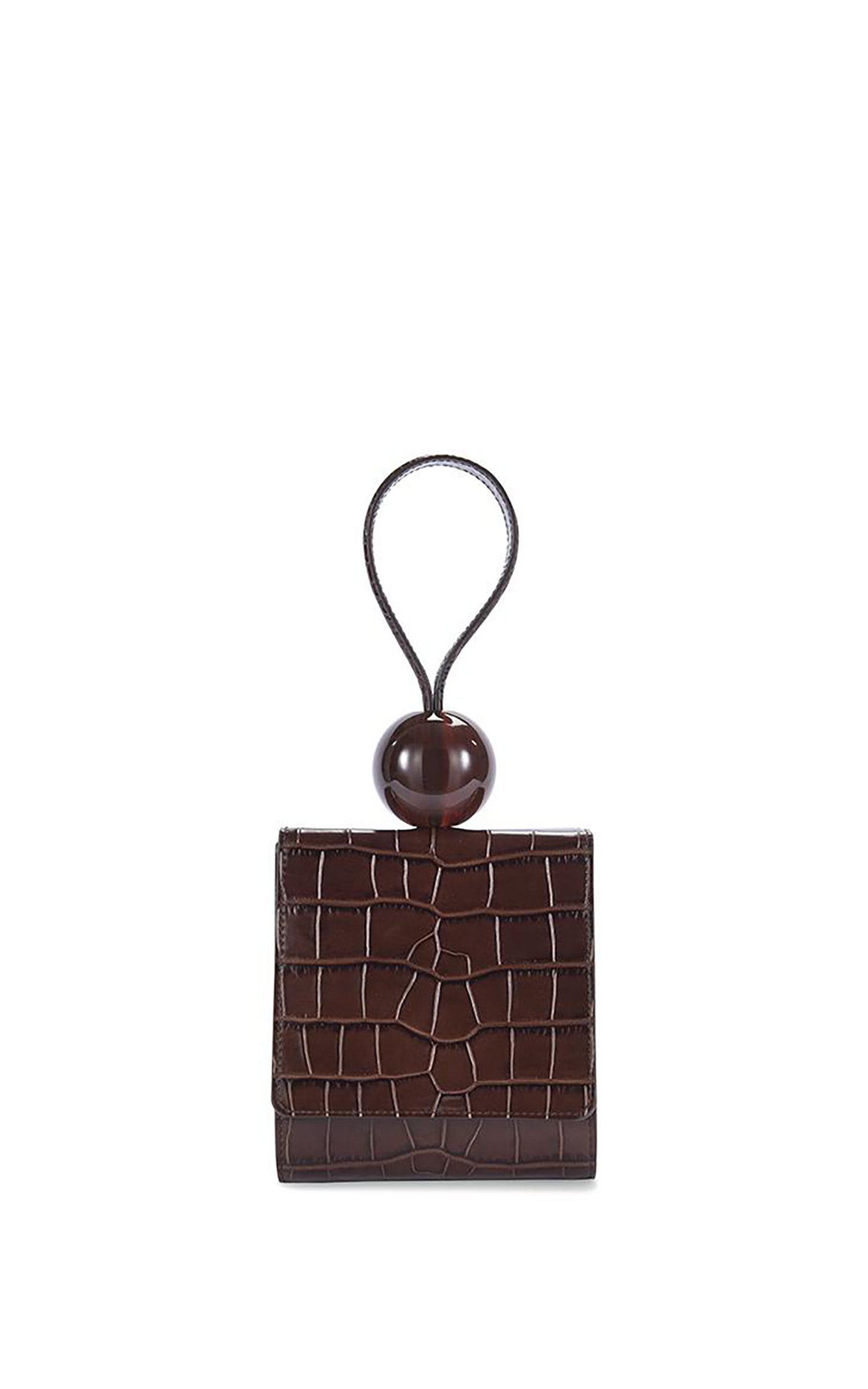 Nutella Croco Embossed Leather Ball bag