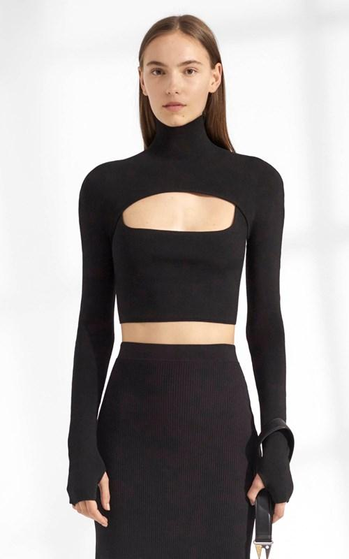 Hosiery Stirrup Top Black