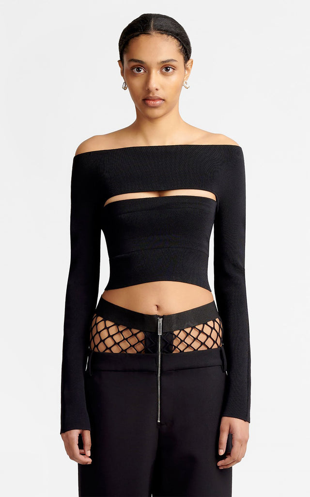 Two Piece Tube Top Black