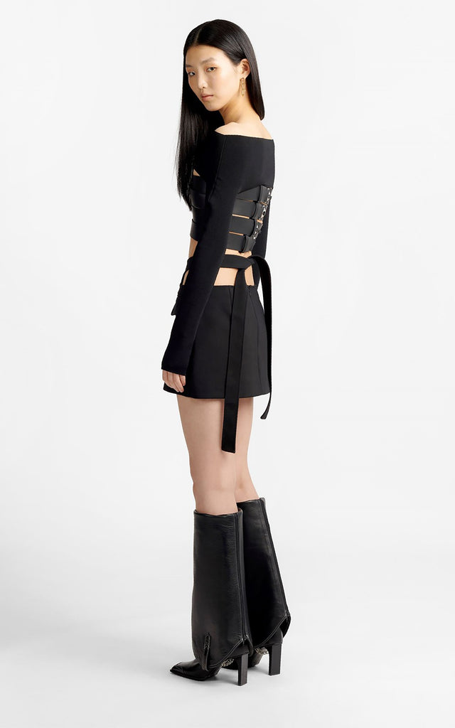 Y Front Mini Skirt Black