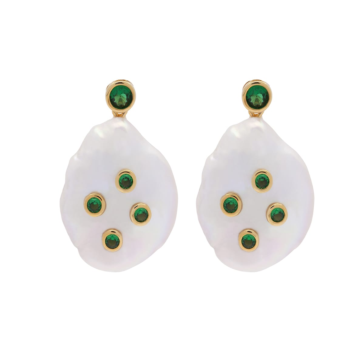 Amber Sceats Victoria Earrings Green